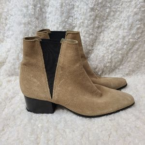 Urban Outfitters Tan Suede Chelsea Ankle Boots